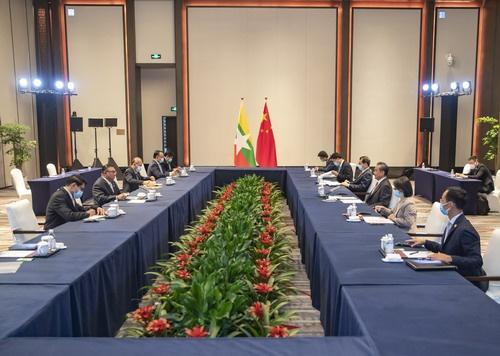 王毅:支持缅甸各方尽早恢复国家稳定 重启民主转型进程
