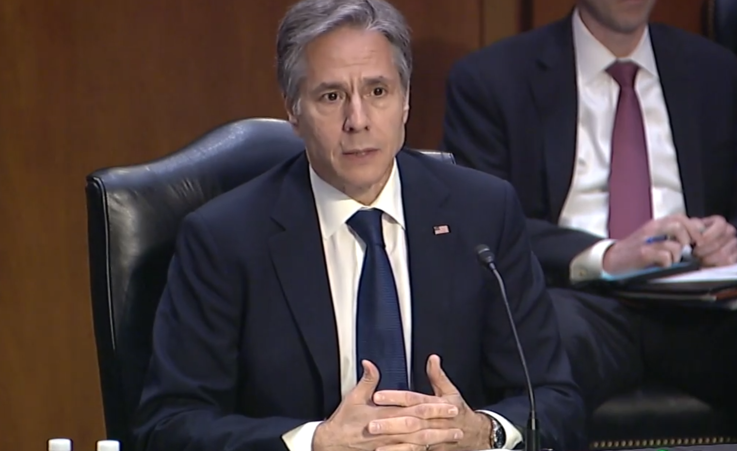 美国务卿参加国会2022财年预算听证会 又搬出了中国