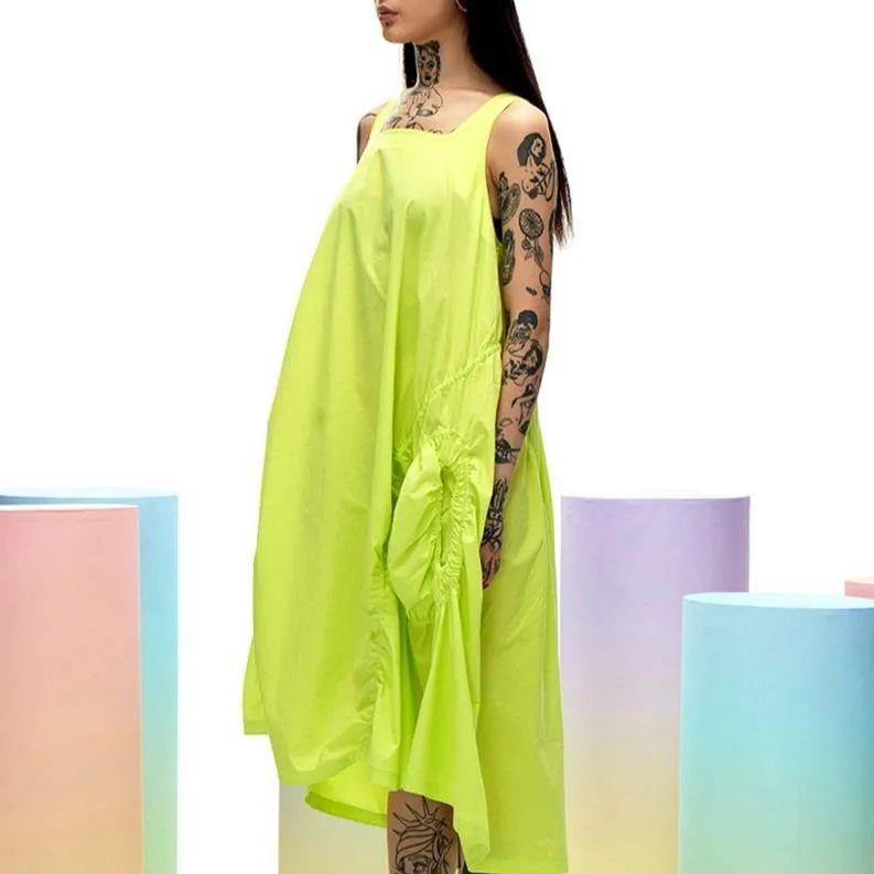 荧光色长裙