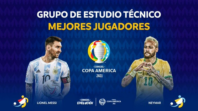 梅西、内马尔联袂当选美洲杯最佳球员,历史首次!