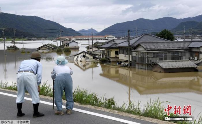 日本西部两县遭暴雨侵袭 9天雨量达7月平均水平两倍