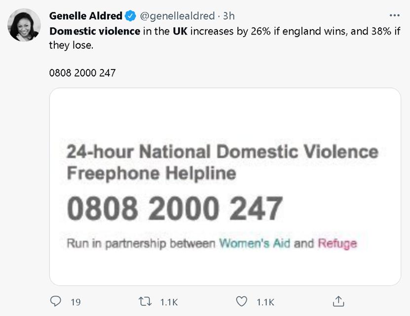英格兰输掉决赛后,英国女人开始纷纷拨打这个电话!