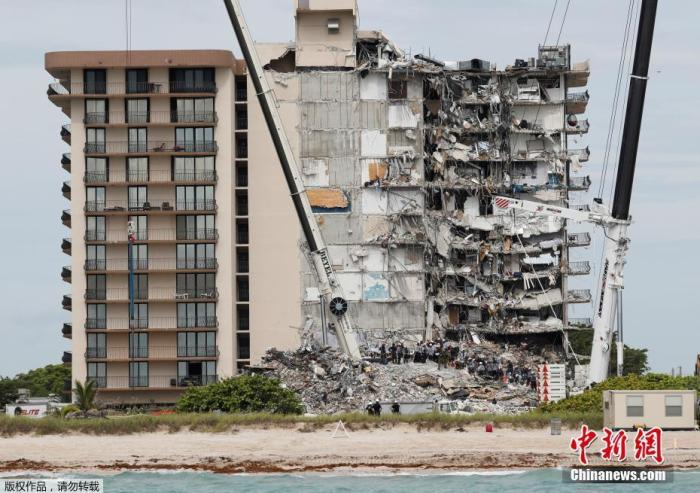 美佛州塌楼事故已致36人死 姊妹楼也有倒塌风险?