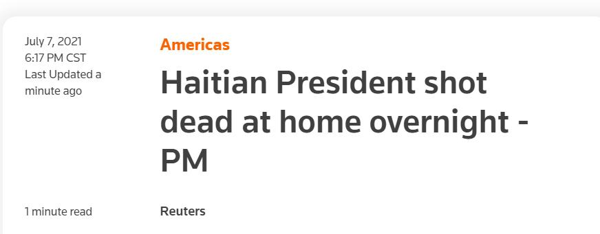 突发!总统家中被杀!