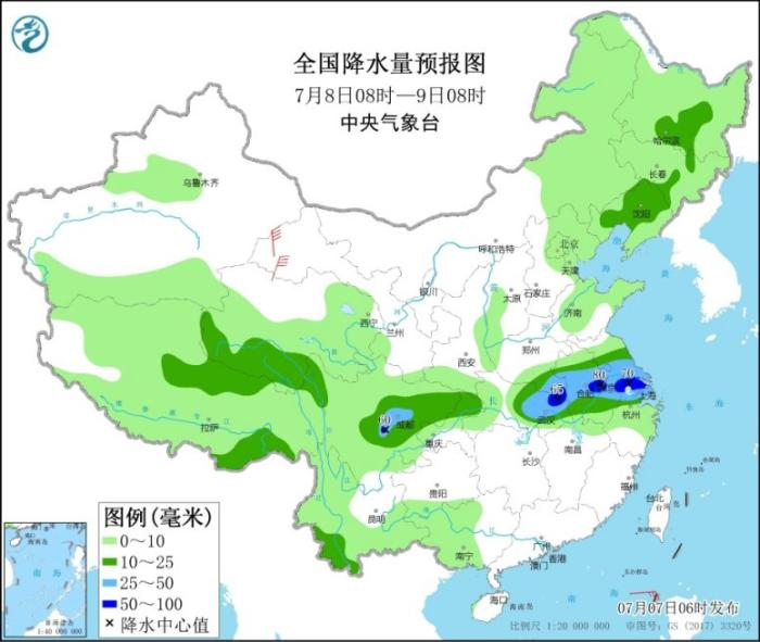 西南地区东部等有较强降水 南海热带低压将登陆海南岛