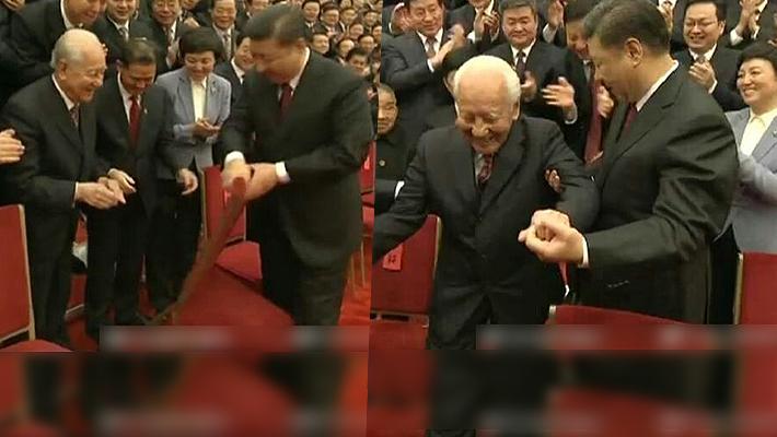 习总给让座 这白发长者是中国核潜艇之父黄旭华