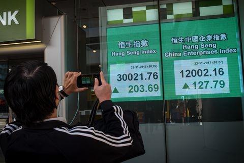 亚洲股市这一年:香港日本股市为投资者带来最多财富