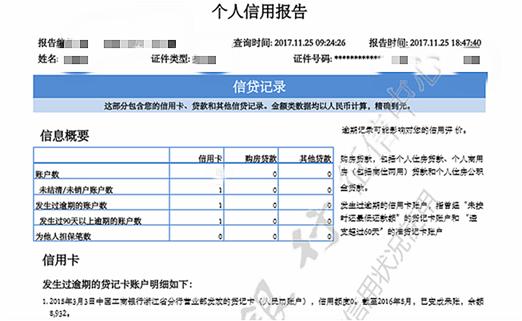 张先生的个人信用报告