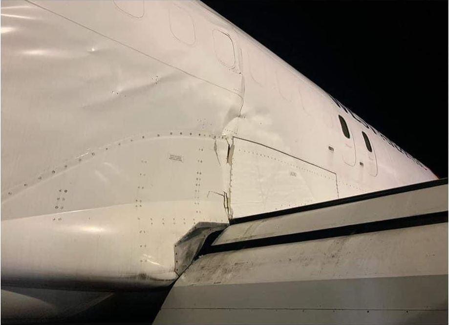 西大西洋航空737货机硬着陆 机身严重受损