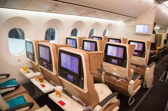 阿提哈德航空波音787经济舱