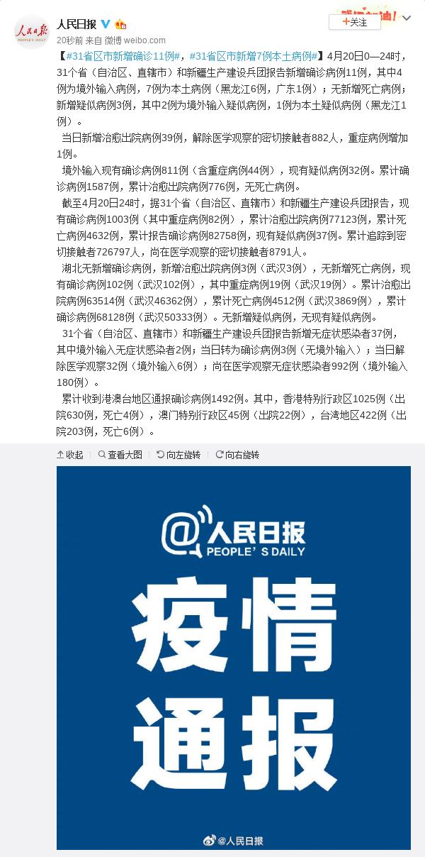 摩天平台,增确诊11例31省区市摩天平台图片