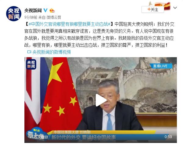 摩天测速,英大使刘晓明哪里有狼摩天测速哪里就要主图片