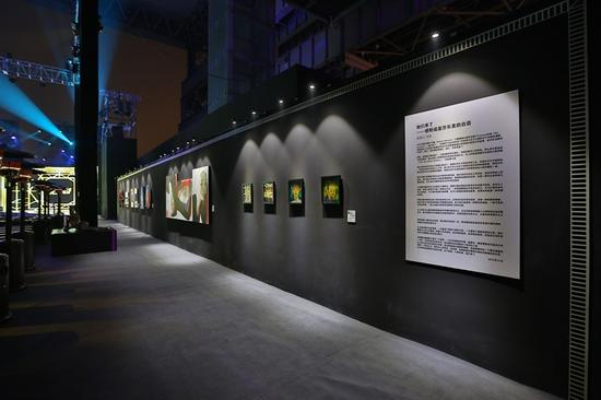 画展现场照片-悦 界中国当代女性艺术展在上海举办