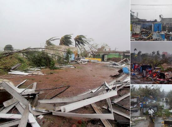 20年来最强热带气旋横扫印度,已致7人死亡。(图源:推特)