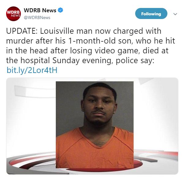输掉游戏误杀自己孩子 美国男子面临谋杀指控