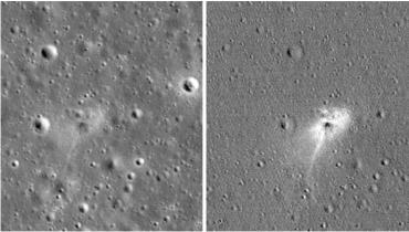 以色列飞船登月坠毁图公布 网友:史上最贵刮蹭