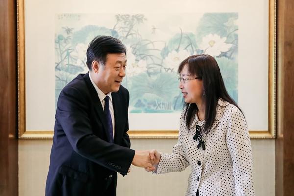于康震会见马来西亚原产业部部长郭素沁