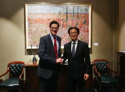 驻悉尼总领事顾小杰会见新南威尔士州议会新任下议长奥代