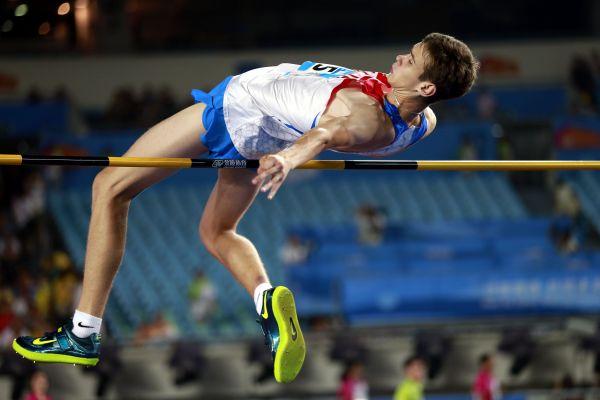 資料圖:俄跳高運動員丹尼爾·李森科。新華社記者任正來攝