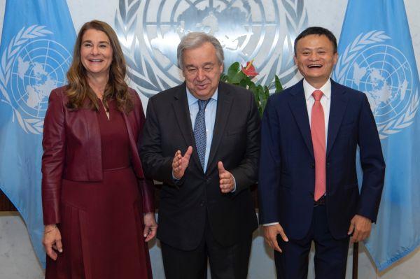联合国秘书长古特雷斯:给马云和梅琳达·盖茨的数字经济报告打A+