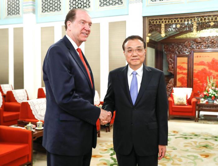 李克强会见世界银行行长马尔帕斯:中国政府致力于打造市场化、法治化、国际化的营商环境