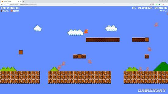 玩家自制网页版《超级马里奥大逃杀》 百人同台竞技