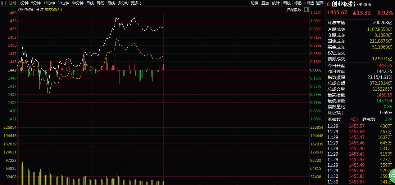 沪指窄幅震荡,创业板指涨近1%,四川本地基建股集体上涨