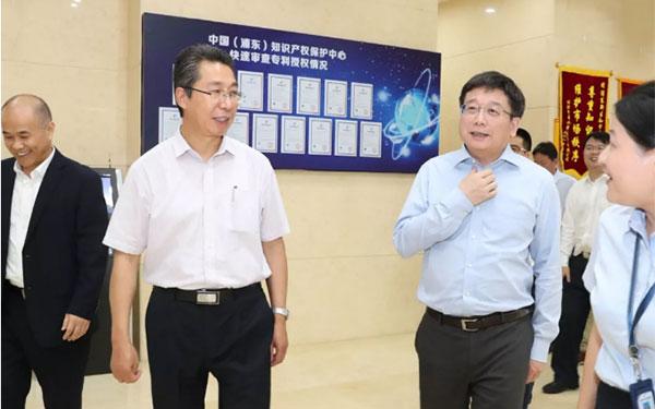 申长雨调研上海浦东新区知识产权工作