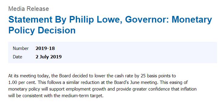 两个月来第二次降息!澳联储:大多数发达经济体通胀仍处于低位