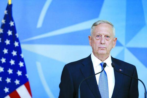 资料图片:前任美国防长马蒂斯。(图片来源于网络)