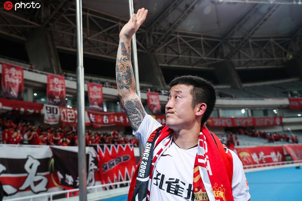 一图流:崇明的孩子回家了,姜至鹏赛后致谢上海球迷