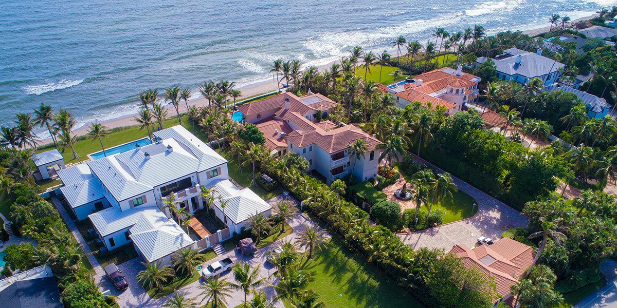 佛罗里达州棕榈滩的海边住宅 图自Lang Realty网站