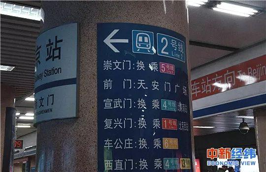 北京地铁站。中新经纬 摄