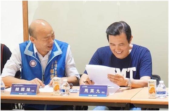 韩国瑜被曝初选获胜后与马英九通话 马鼓励加油