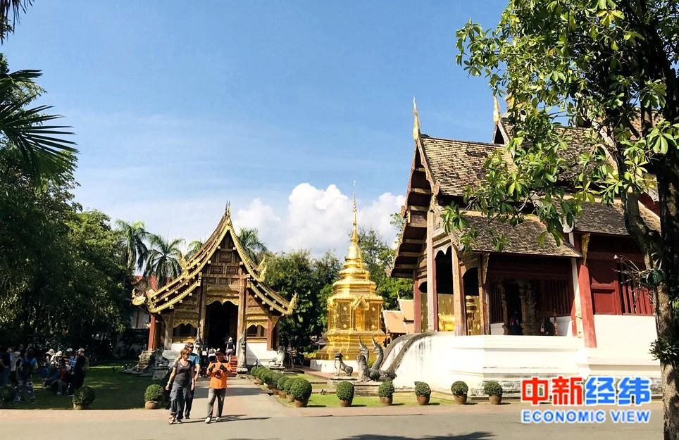 资料图:泰国清迈帕刑寺。中新经纬 李颖 摄