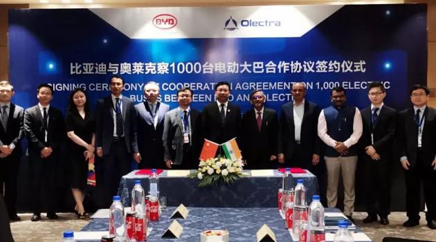 比亚迪在印度获1000台纯电动大巴订单,新能源汽车领导者名不虚传