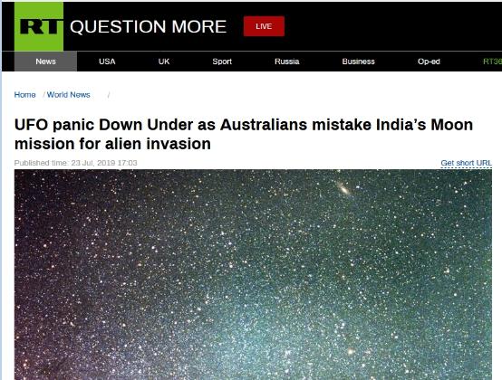 外星人入侵?澳大利亚突现神秘光束惊呆众人(图)|外星人入侵