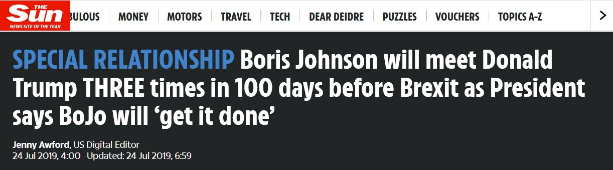 英媒推测:脱欧期限前 新首相要与特朗普会面3次|特朗普|首相