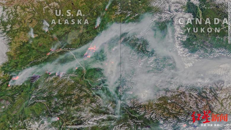 北极野火史无前例 大量二氧化碳释放加剧全球变暖|北极|北极圈