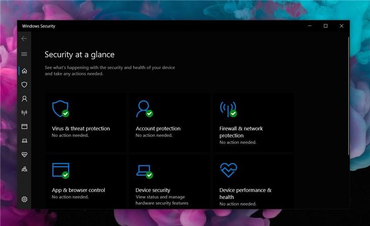 微软Win10 Defender更名出现更多变化:安全智能更新