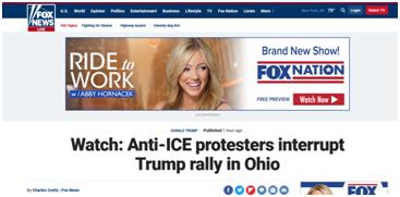 特朗普正演讲 抗议者举横幅致集会暂停3分钟|特朗普|民主党