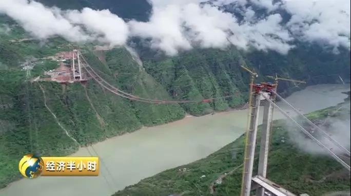 又一世界奇迹 金沙江上凌空架起跨度千米的悬索桥|悬索桥|引桥