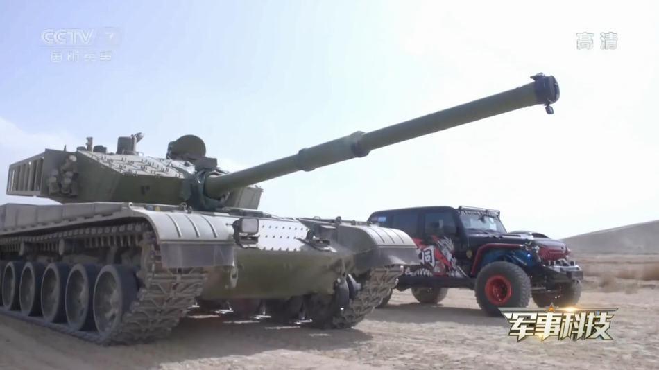 99A坦克和越野车对飙:临近终点时上演反超绝杀(图)