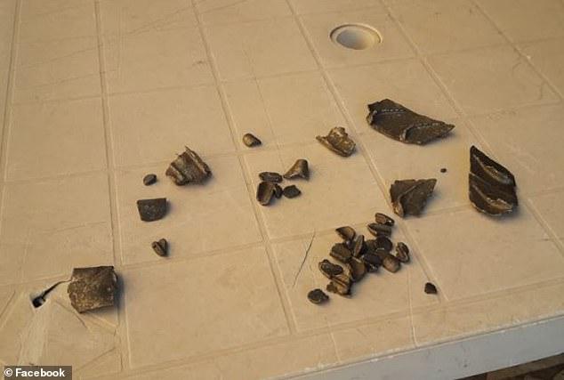 圖為飛機掉落的碎片。(圖:《每日郵報》)