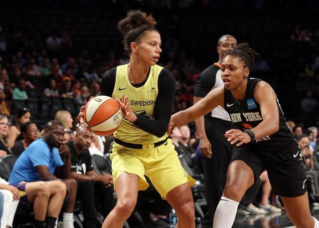 WNBA韩旭登场五分钟2中0 纽约自由人不敌风暴