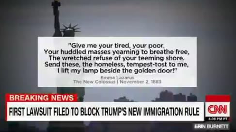"""美国移民局代理局长:自由女神欢迎的是""""来自欧洲""""的移民"""