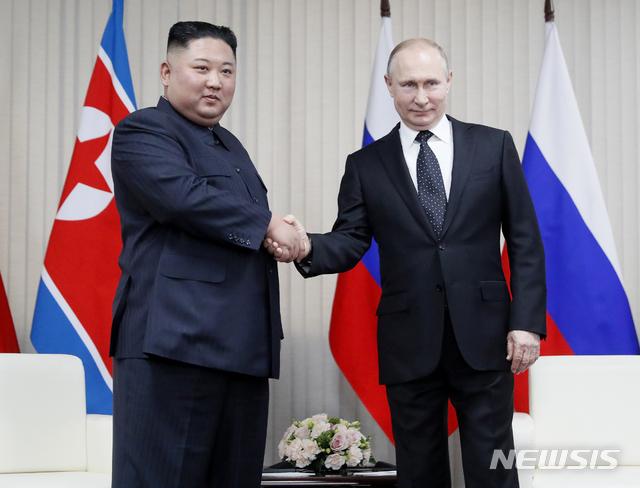 普京和金正恩互致贺电 庆祝朝鲜民族解放74周年|金正恩|朝鲜