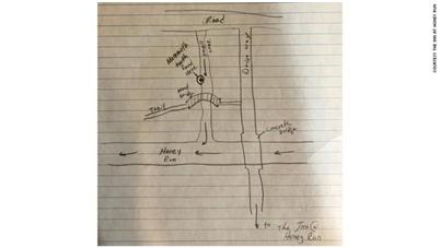 杰克逊画的地图 图源:CNN