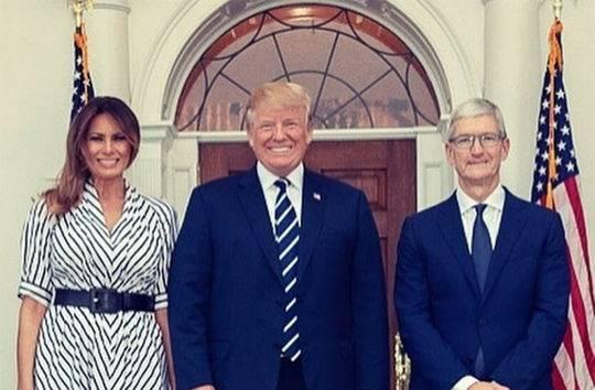 特朗普拟约库克共进晚餐 称赞苹果对美国经济的贡献
