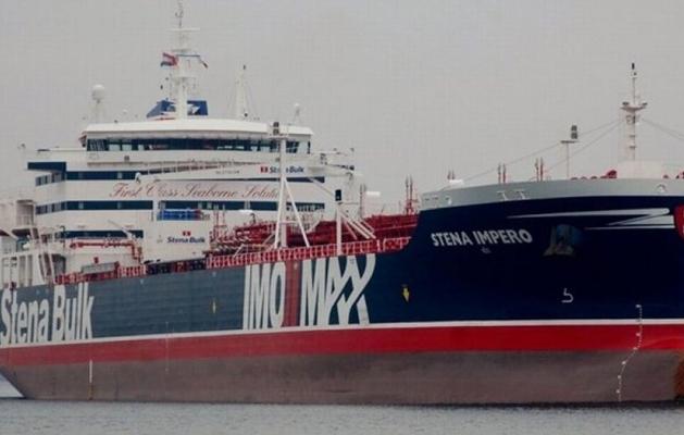 """英国油轮""""史丹纳帝国""""号。(图:伊朗前线网)"""